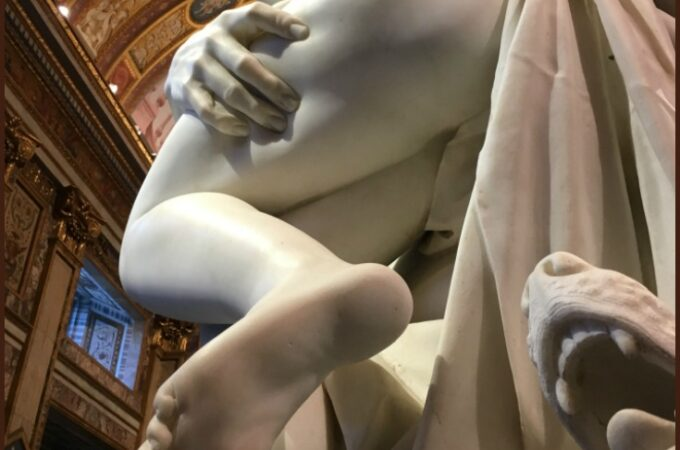 Pluto and Proserpina, Bernini exhibit at the Galleria Borghese in Rome, January 2018