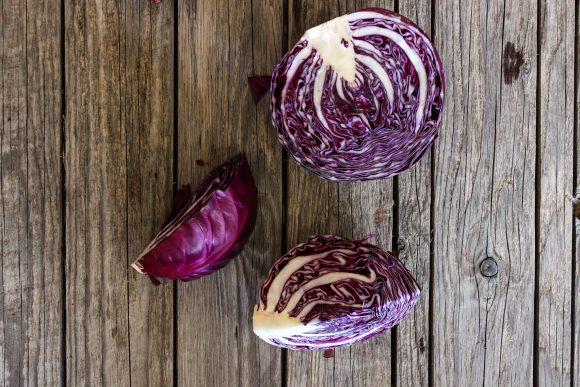 purple cabbage for Sautéed purple cabbage with fresh coriander